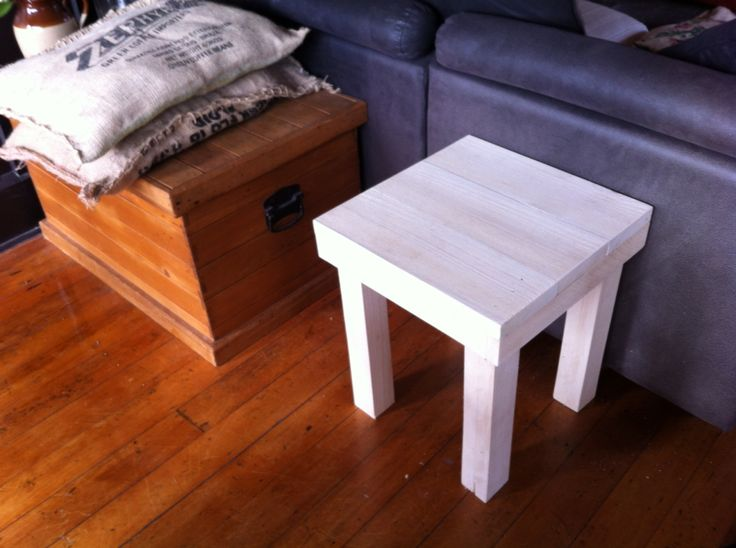 Coffee sack cushions and wee side table I have made.
