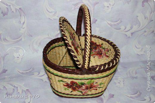 Поделка изделие Плетение Мне исполнилось 3 года    Трубочки бумажные фото 10