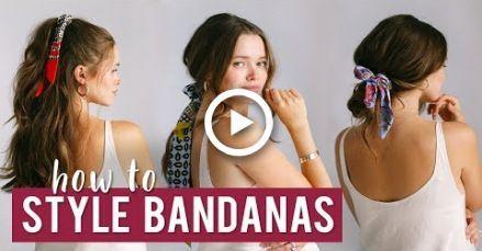 #Bandana #Easy Hairstyles with bandana #Eine #einfache #Haaranleitungen