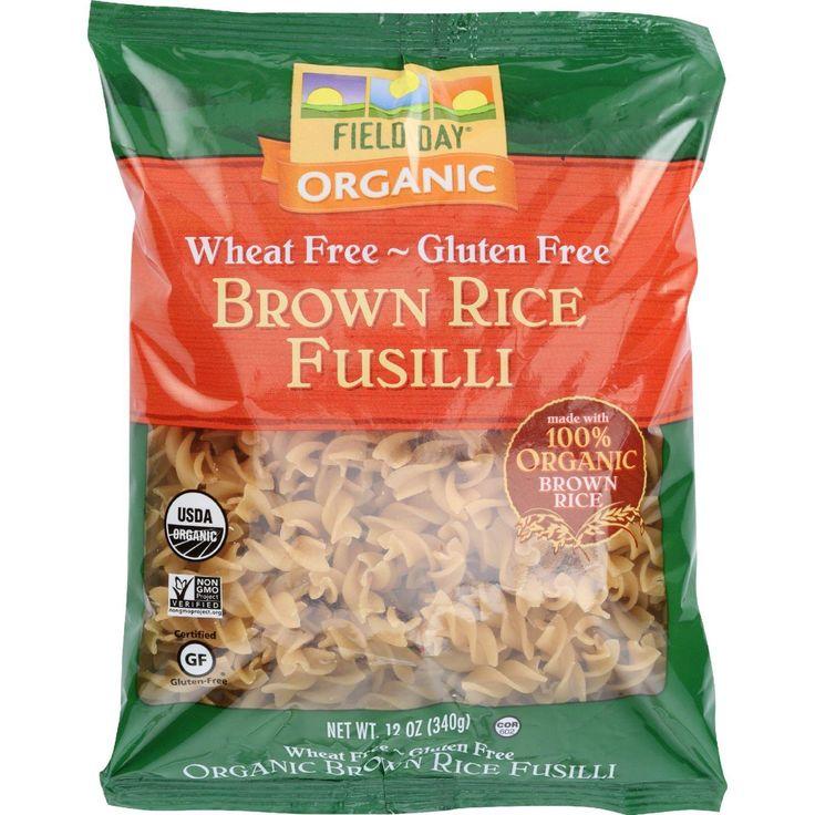 Field Day Pasta - Organic - Brown Rice - Fusilli - 12 Oz - Case Of 12