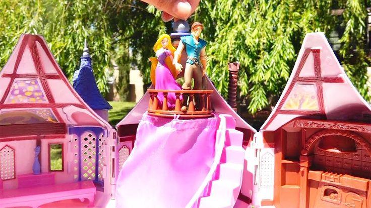 Me ha gustado este vídeo en YouTube: Juguetes de Princesas Disney torre de Rapunzel y compras cuando llevé los neonatos a Disneylandia