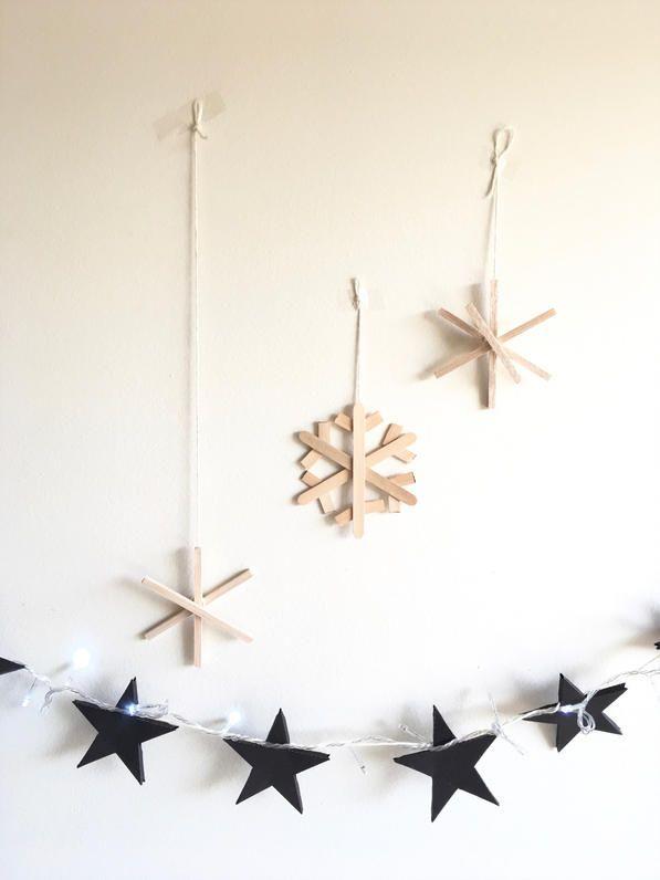 Navidad Nórdica/Escandinava. Copos de nieve DIY