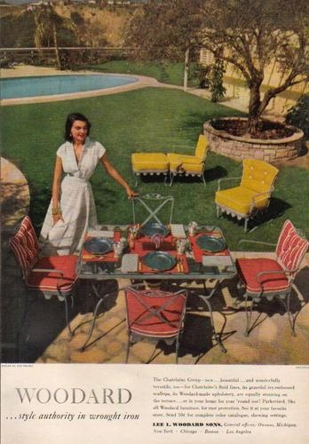 Woodard Chatelaine ad 1950. Woodard, one of the brands I trust in quality furniture for outdoor.