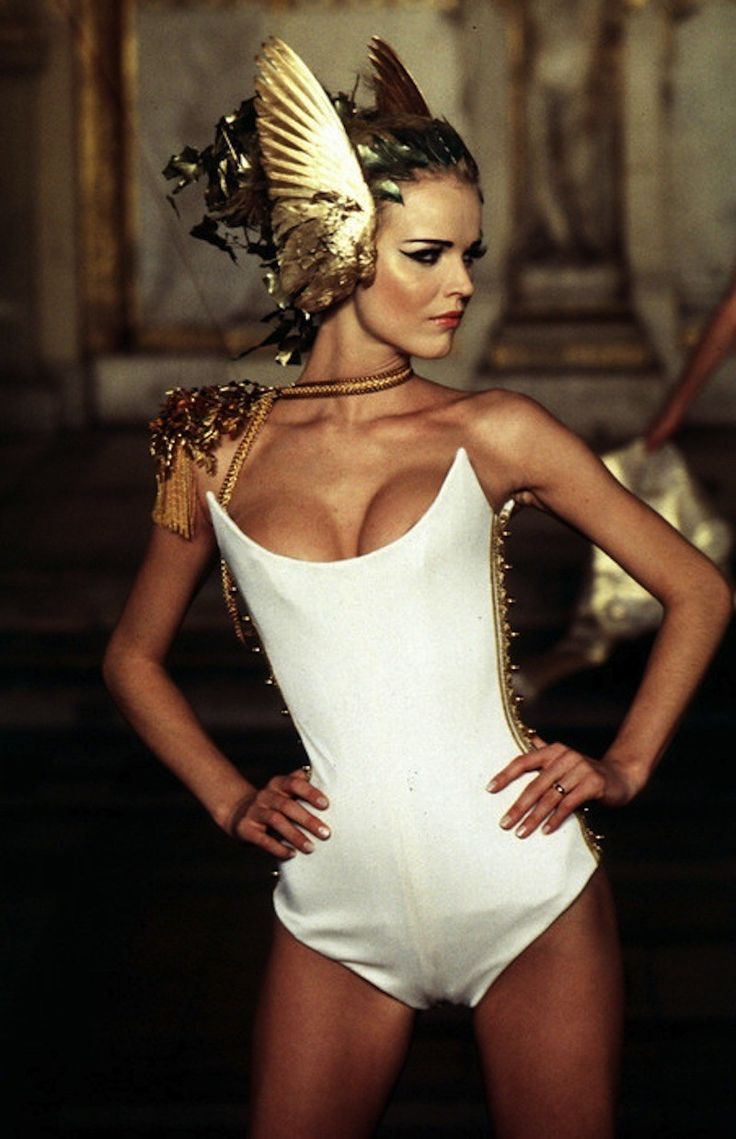 Eva Herzigova at Givenchy Haute Couture S/S 1997 by Alexander McQueen.