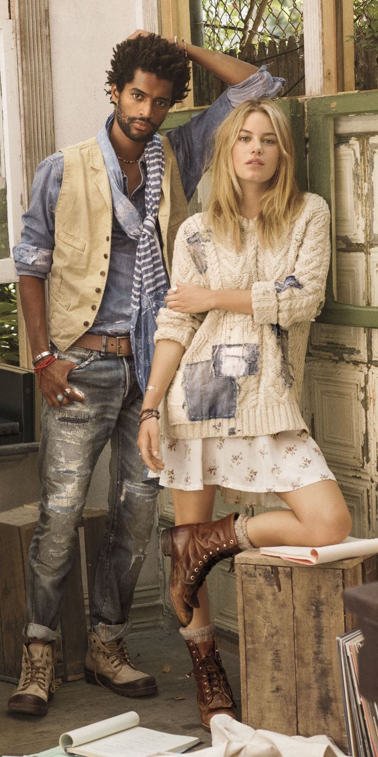 The New Bohemian: The Spring collection from Denim & Supply combines nautical inspired knits, faded prints and more.