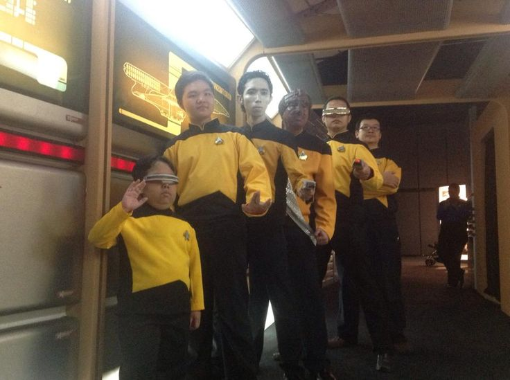 20140712 - Costum Invasion Day, TNG engineering crew (L-R) : cadet Gilang, ensign Theo, Cmdr Manto, Adm Berthold, Cmdr Rully, Capt. Pau - tks to Capt. Christ.