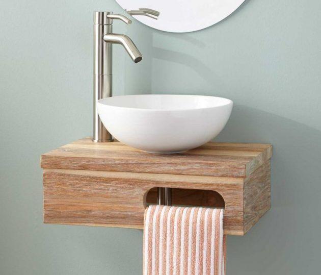 17 faszinierende Mini-Waschbecken-Designs für kleine Badezimmer