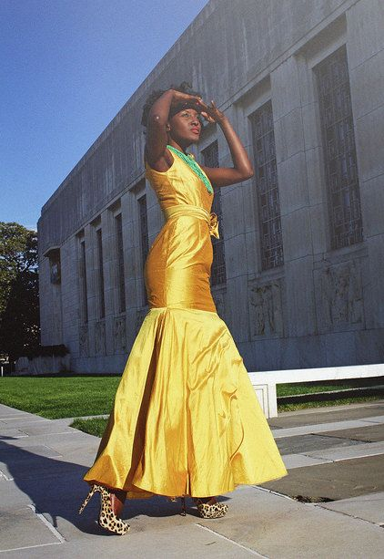 Gold silk cap sleeve gown by solomek on Etsy, $355.00 -- I particularly prefer this in green