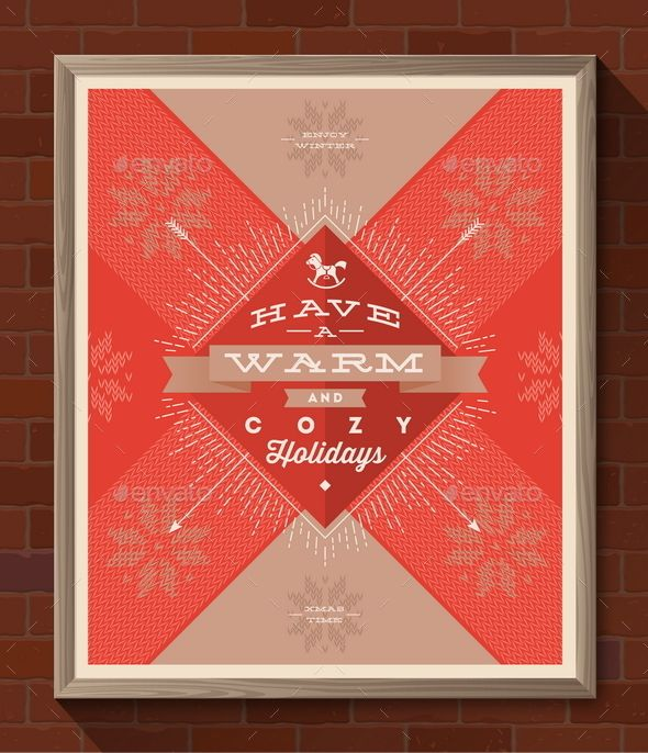 Winter Holidays Greeting Poster