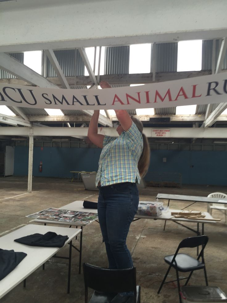 Gwenda pining our sign at Ballarat Weekly Times Expo 2016