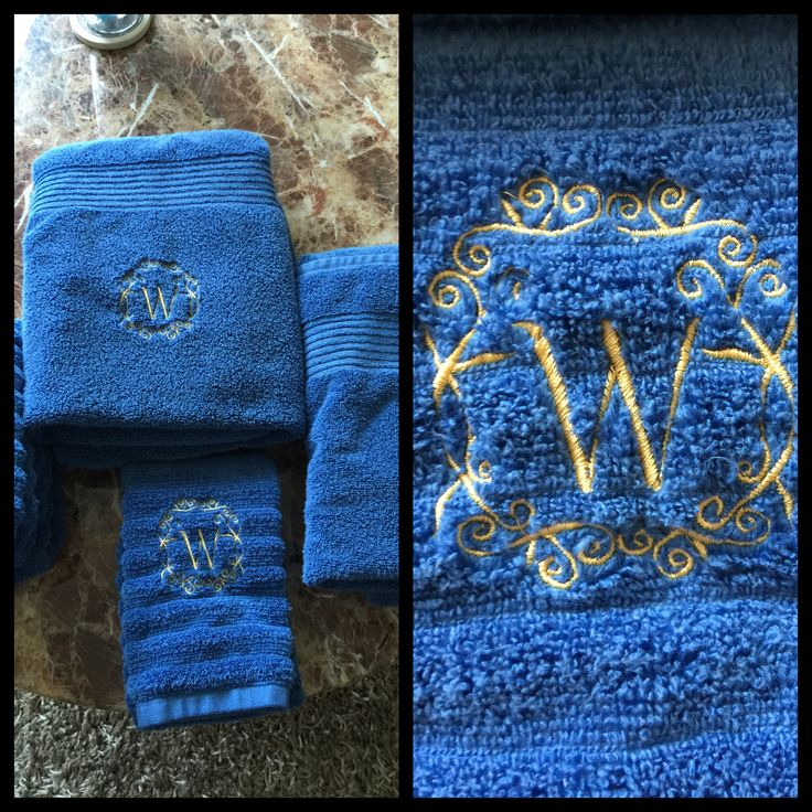 Sticken, Monogramm, Handtuch , Badetuche Embroidery, towels, monogram,