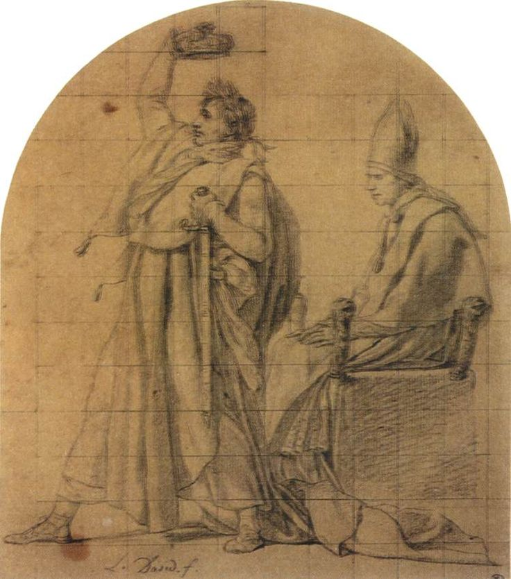 JL David, Napoleon Holding Josephine's Crown