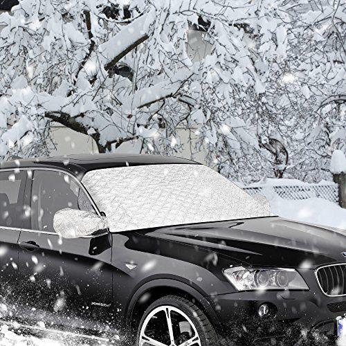 Bache Pare Brise,Furado Couverture pare-brise voiture,Repliable Bache de protection voiture,Protection pour pare-brise de voiture contre le…