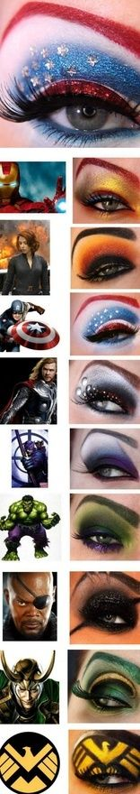 Super-Hero- and Film Character-Inspired Eye Makeup Looks. WOW!