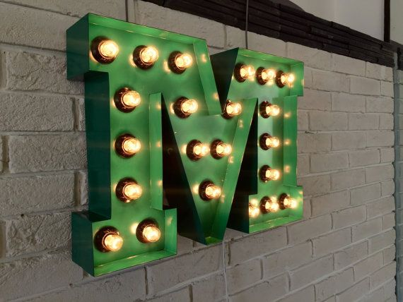 Metal Letter... Letters for Wall... Incandescent Lamps... Metal letters... Marquee