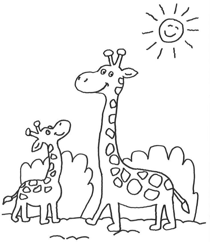 11 best Giraffe Ausmalbilder images on Pinterest   Giraffes, Cartoon ...