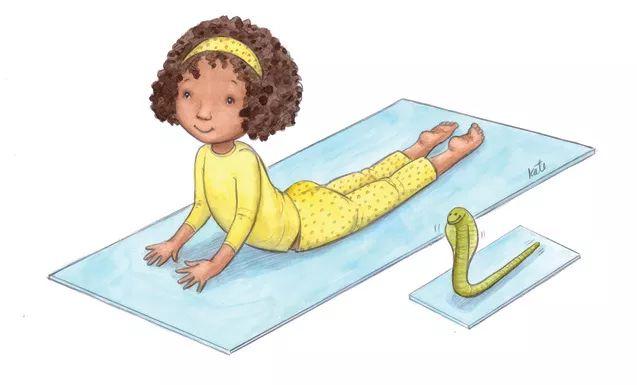 12 Illustrations To Teach Kids Yoga Poses