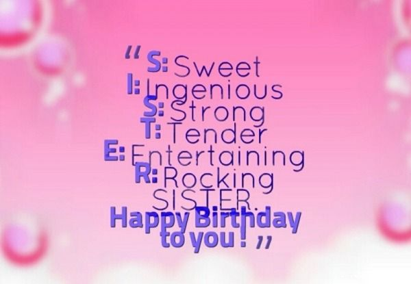 Groovy Picture Happy Birthday To You Sister Birthday Quotes Birthday Funny Birthday Cards Online Elaedamsfinfo