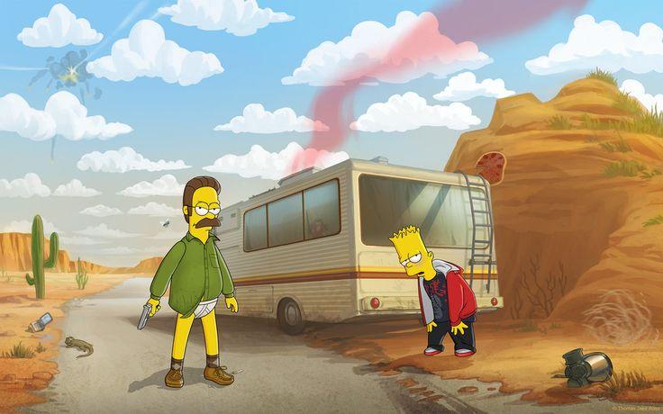 Breaking Bad - Flanders style #TheSimpsons #genialesseries