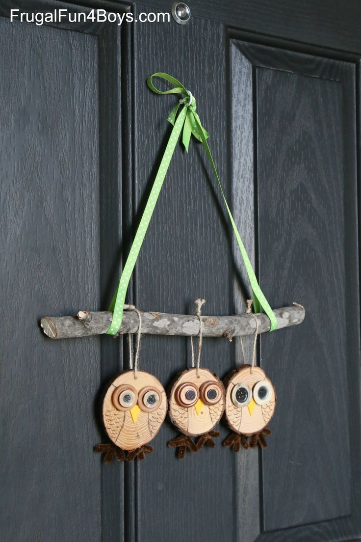 How To Make Adorable Wood Slice Owl Ornaments And An Owl