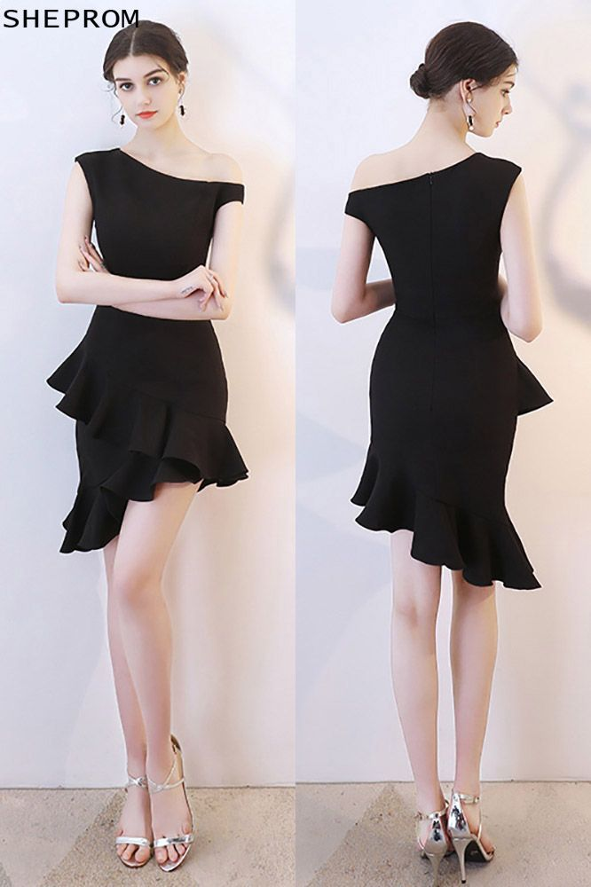 5b0011aa30b Discount Little Black Mermaid Short Party Dress One Shoulder  HTX86025 at  SheProm.  SheProm is an online store with thousands of dresses