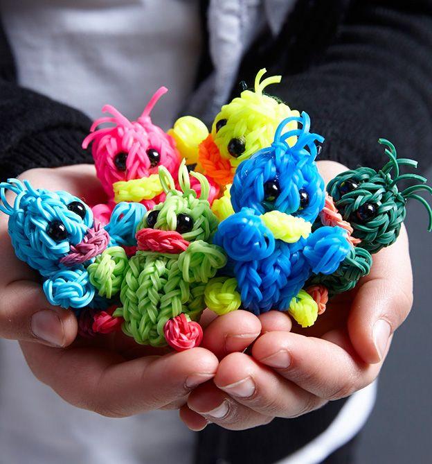 Süße Rubberbands-Figuren, aus unserem Buch 'Rubberbands! Fun&Fashion #Loom