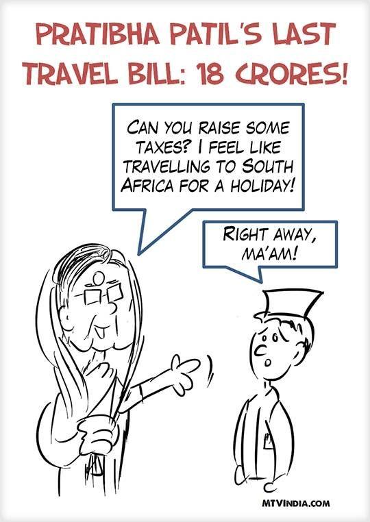 Pratibha Patil's last travel bill