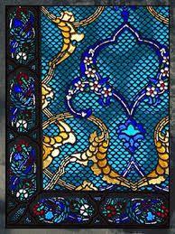 Moorish influenced glass panel from the Topkapi Palace