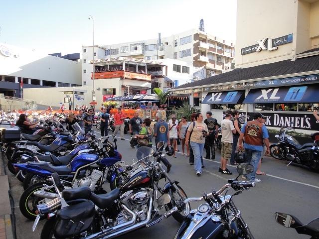 Central Margate during bike week