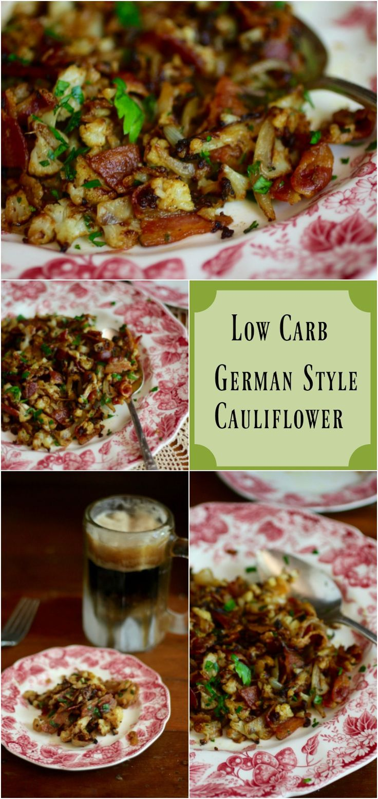 Serve this low carb German style cauliflower recipe warm for a tangy side dish with plenty of flavor. From…