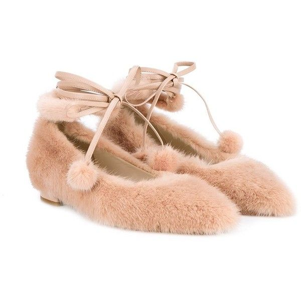 Natasha Zinko lace-up ballerina flats ($1,687) ❤ liked on Polyvore featuring shoes, flats, beige flats, ballet flats, nude ballet flats, nude flat shoes and leather ballerina flats
