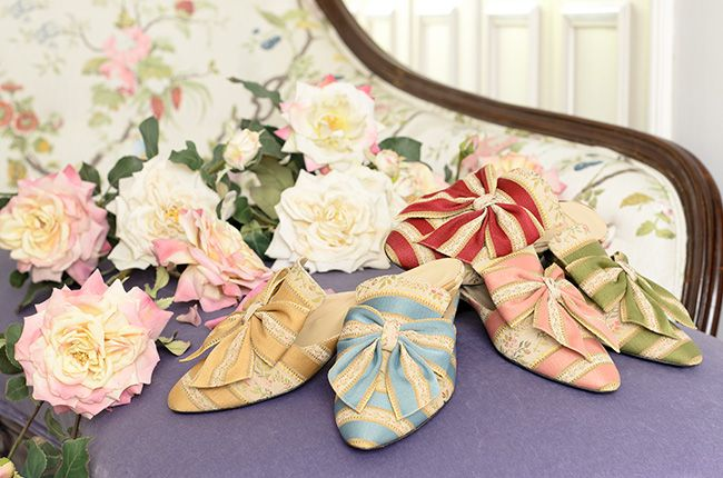 Cotton stripes & roses http://store.leschaussonsdelabelle.com
