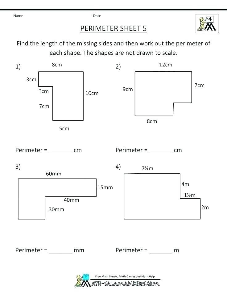 31 Perimeter 3rd Grade Worksheets Perimeter Worksheets Area And Perimeter Worksheets Free Printable Math Worksheets
