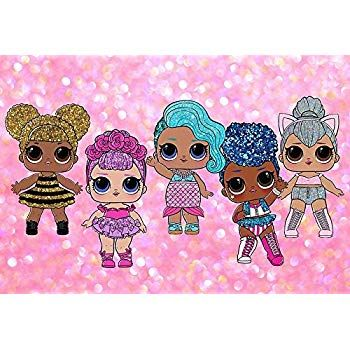 Photography Backdrop Vinyl 5x7ft LOL Dolls