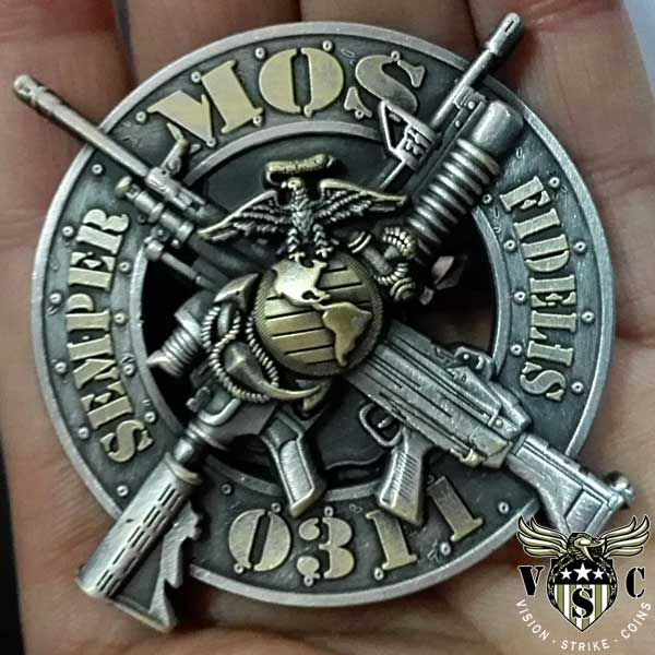 USMC 0311 Rifleman Marine Corps MOS Coin