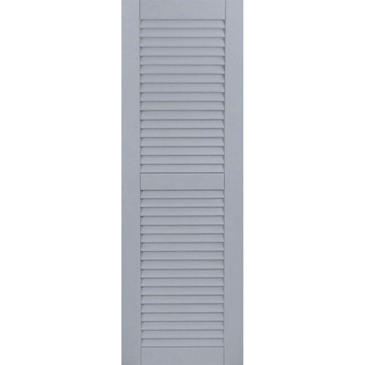 Ekena Millwork 18 in. x 50 in. Exterior Composite Wood Louvered Shutters Pair Unfinished