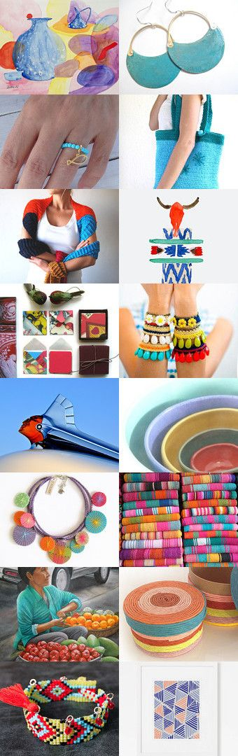 happiness in color.. by Sun San on Etsy--Pinned+with+TreasuryPin.com