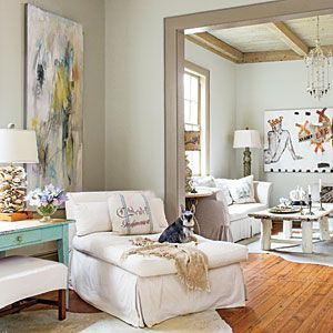 Layer Neutrals for a Relaxed Look | 101 Living Room Decorating Ideas - Southern Living Mobile