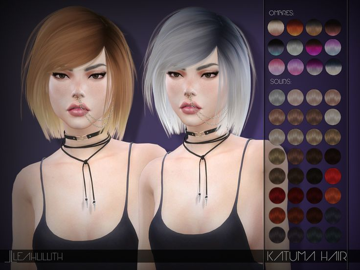 Katuma Hair  Found in TSR Category 'Sims 4 Female Hairstyles'