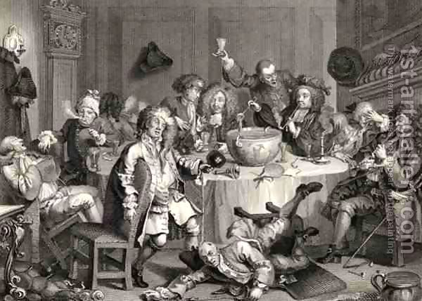 A Midnight Modern Conversation from The Works of William Hogarth by William Hogarth