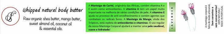 """#Cremes naturais à base de manteiga de Shea e Mango, produtos #caseiros, produtos #portugueses, no #caseiropt por """"Carol's Whipped Natural Body Butter"""" em Beja."""