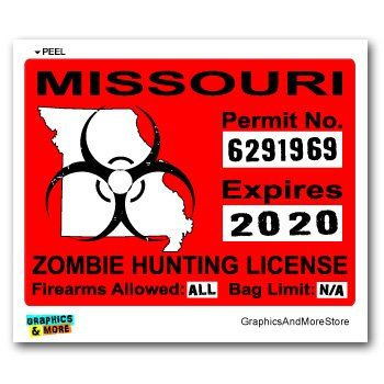 17 Best Images About Zombie Hunting Permits On Pinterest