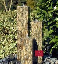 Gartenbrunnen Granit Gneis geflammt und gebürstet 15