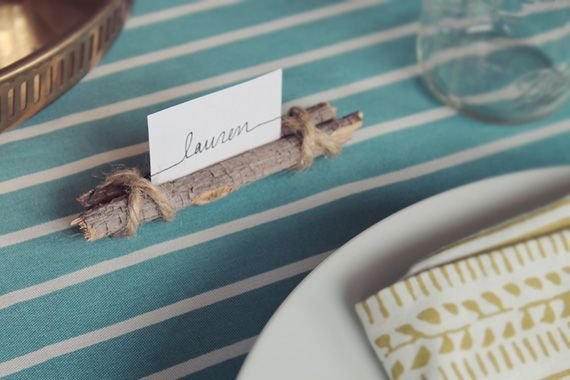 So here's another super easy, quick and hopefully FREE thanksgiving DIY - twig and twine name cards. If you own twine and you can gather some sticks, you're solid. Each name card should take about ...
