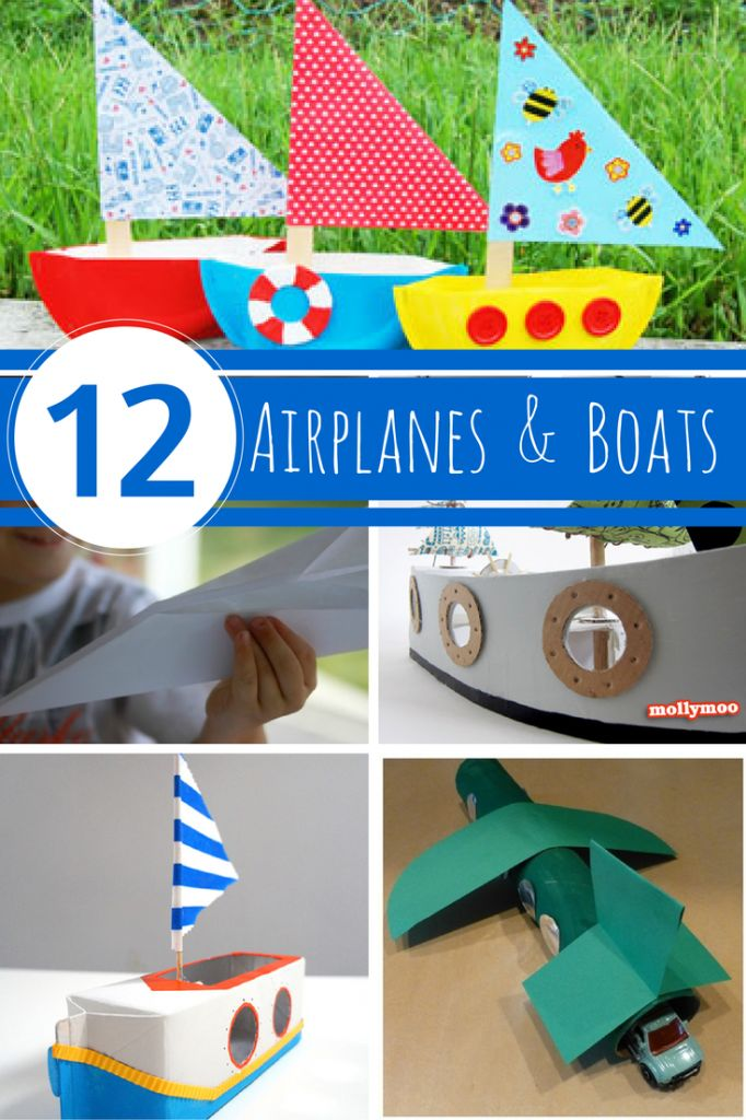 DIY Paper Airplanes And Boats Crafts For Kids