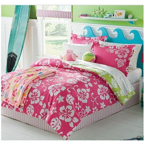 hawaiian flower bedding pink amp white hawaiian hibiscus 856