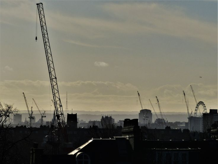 London from Dartmouth Park, 2012.  Locals have a different name for the park, based on the canine contribution to soil fertility.
