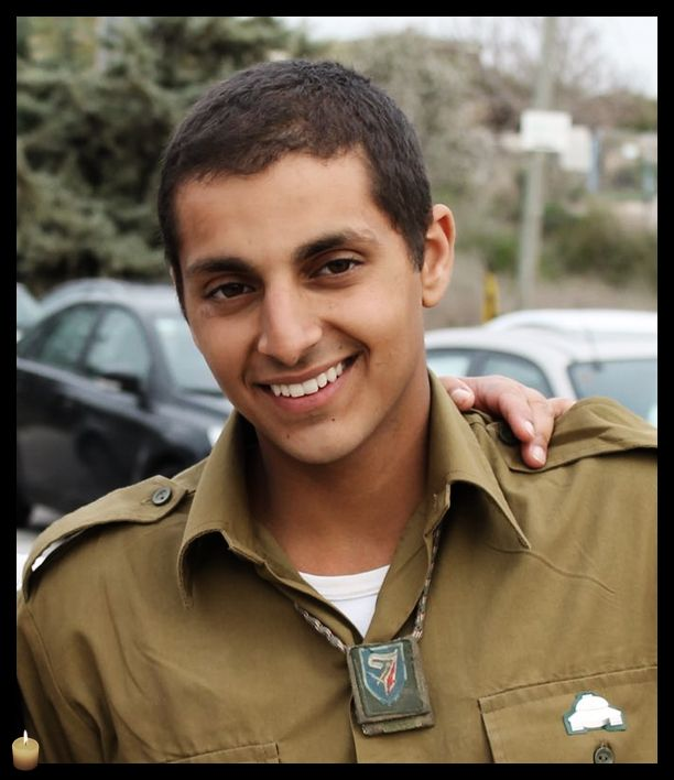 Staff Sergeant Guy Levy,  21, from Kfar Vradim, killed by an anti-tank missile fired at the force from a structure. Praying for his family. May his memory be blessed.