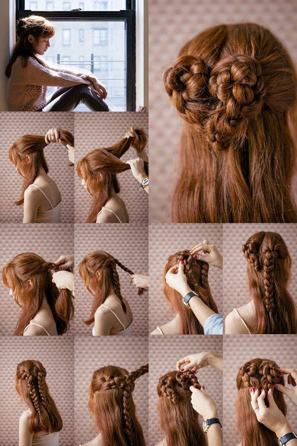 Hair Tutorial - How to do a cute heart braid hair style