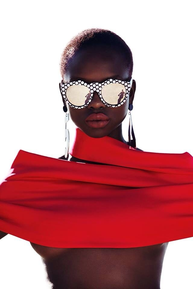 blackfashionstars: Yaya Deng for Le Specs. Black Fashion Stars